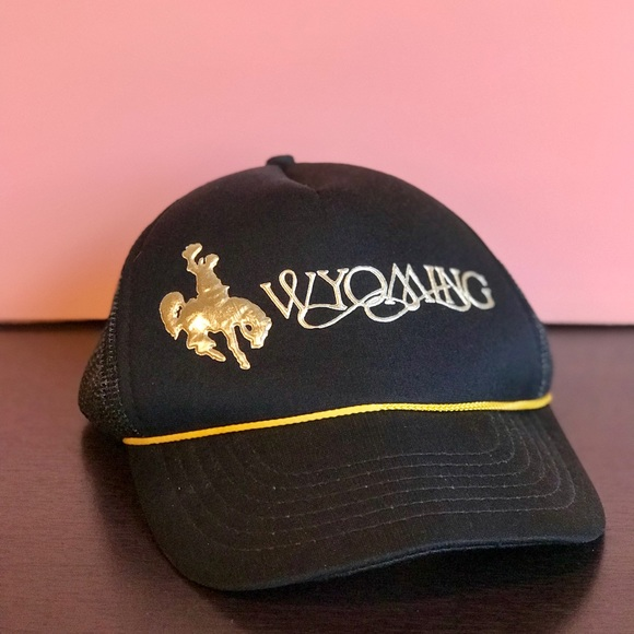 🤠 Vintage Wyoming Hat Adjustable Snaps - OS